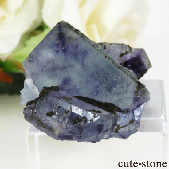 中国 内モンゴル産 ブルーフローライトの原石 22gの写真0 cute stone