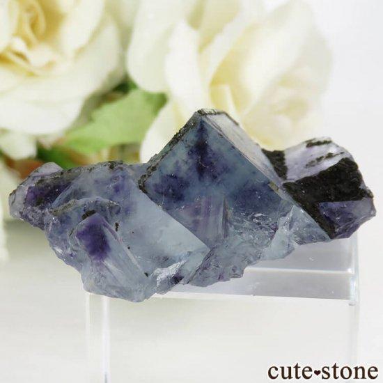 中国 内モンゴル産 ブルーフローライトの原石 22gの写真1 cute stone