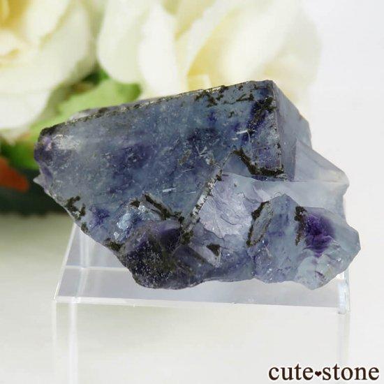 中国 内モンゴル産 ブルーフローライトの原石 22gの写真3 cute stone