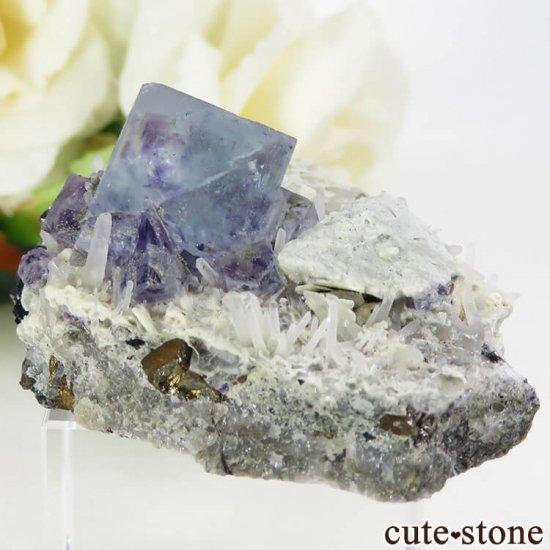 中国 内モンゴル産 ブルーフローライトの原石 36.3gの写真0 cute stone