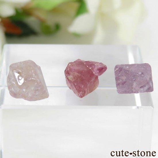 ミャンマー モゴク産 スピネルの結晶 3点セット No.1の写真0 cute stone