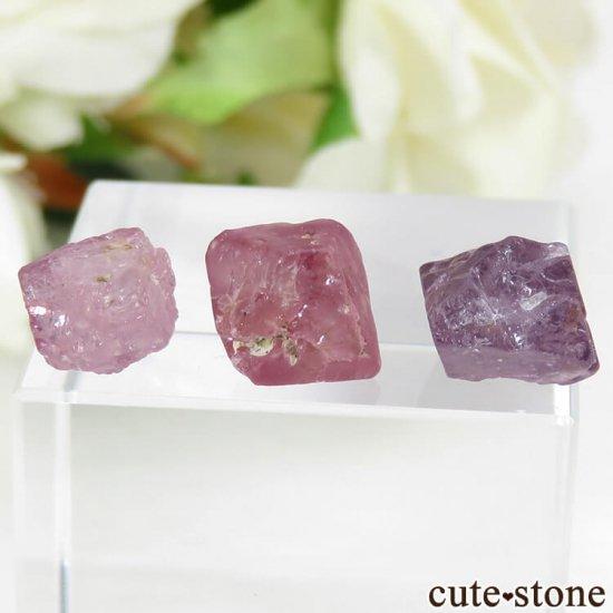 ミャンマー モゴク産 スピネルの結晶 3点セット No.3の写真0 cute stone