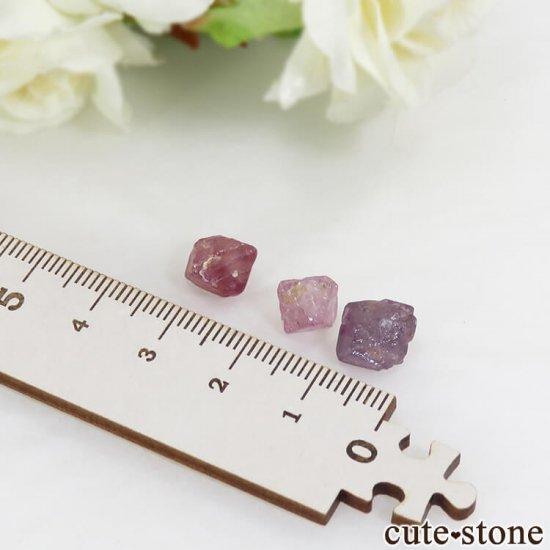 ミャンマー モゴク産 スピネルの結晶 3点セット No.3の写真1 cute stone