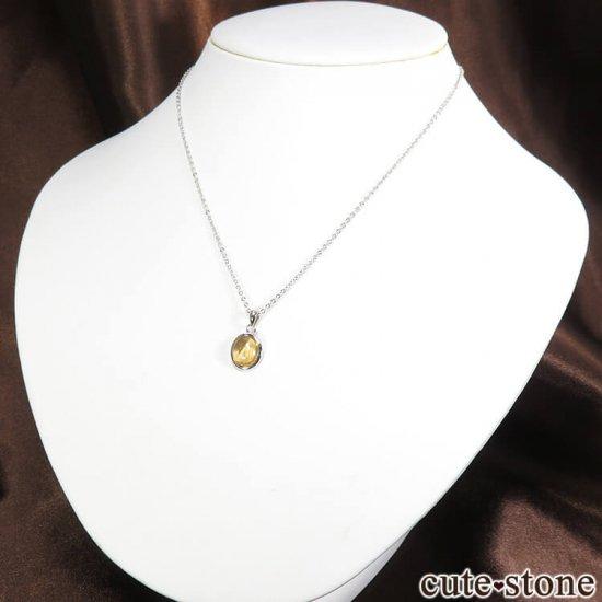 インペリアルトパーズのオーバル型ペンダントトップ No.1の写真4 cute stone