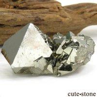 ペルー Huanzala Mine産 八面体パイライトの原石 42.9gの画像
