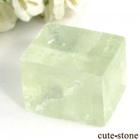 メキシコ産 グリーンカルサイトの劈開片結晶(原石) 95gの写真0 cute stone