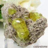 イタリア シチリア島 Cianciana Mines産 サルファーの母岩付き結晶(原石) 23.2gの画像