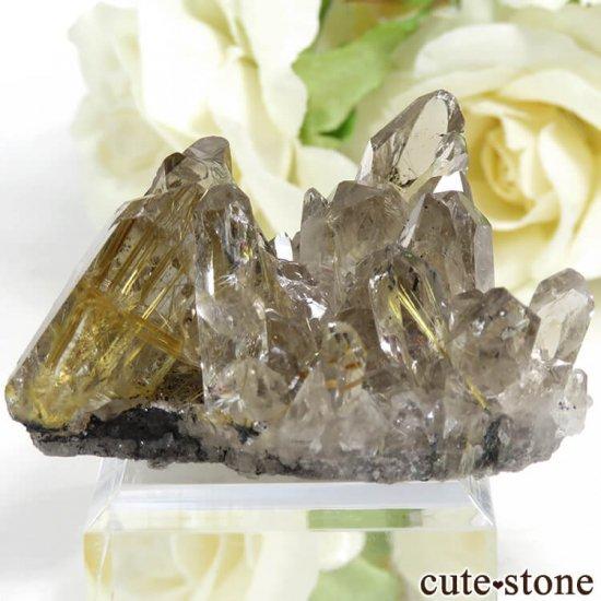ブラジル バイーア州産 ルチルインクォーツの原石(クラスター)27.7g