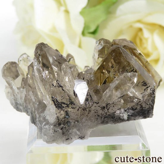 ブラジル バイーア州産 ルチルインクォーツの原石(クラスター)27.7gの写真1 cute stone