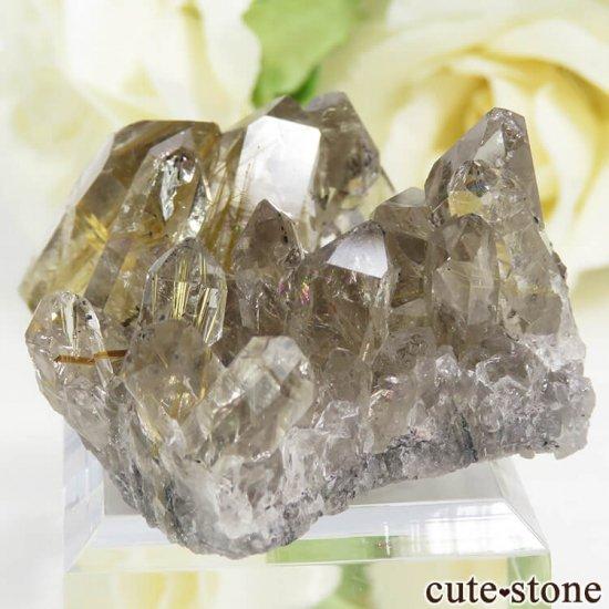 ブラジル バイーア州産 ルチルインクォーツの原石(クラスター)27.7gの写真3 cute stone