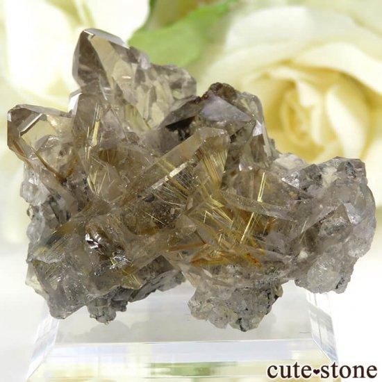 ブラジル バイーア州産 ルチルインクォーツの原石(クラスター)20.5g