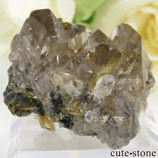 ブラジル バイーア州産 ルチルインクォーツの原石(クラスター)20.5gの写真0 cute stone