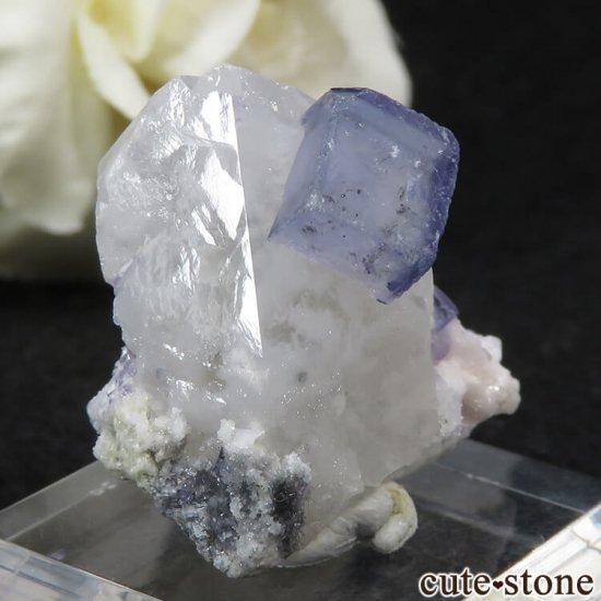ヤオガンシャン産 ブルーフローライト&クォーツの原石 11.8gの写真0 cute stone