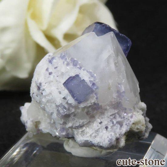 ヤオガンシャン産 ブルーフローライト&クォーツの原石 11.8gの写真1 cute stone