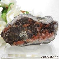 ペルー産 ロードクロサイト(インカローズ)の母岩付き結晶(原石) 93gの画像
