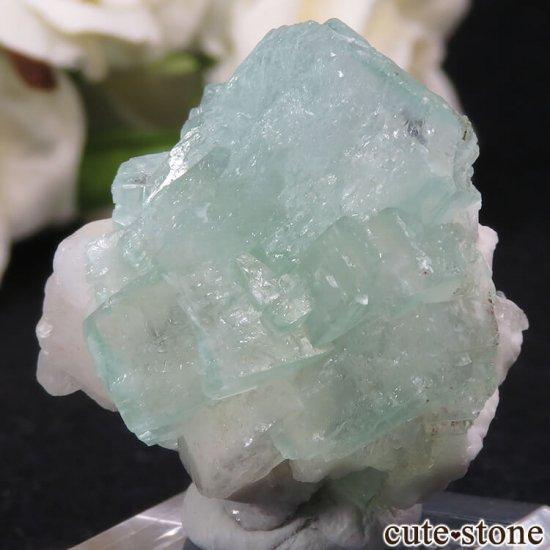 インド Nashik産 グリーンアポフィライト&ヒューランダイトの原石 28gの写真0 cute stone