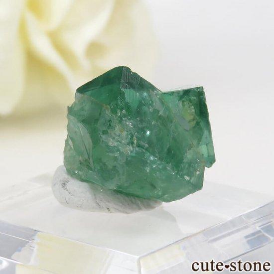 イングランド ロジャリー鉱山産 蛍光フローライトの結晶(原石)4.1gの写真0 cute stone