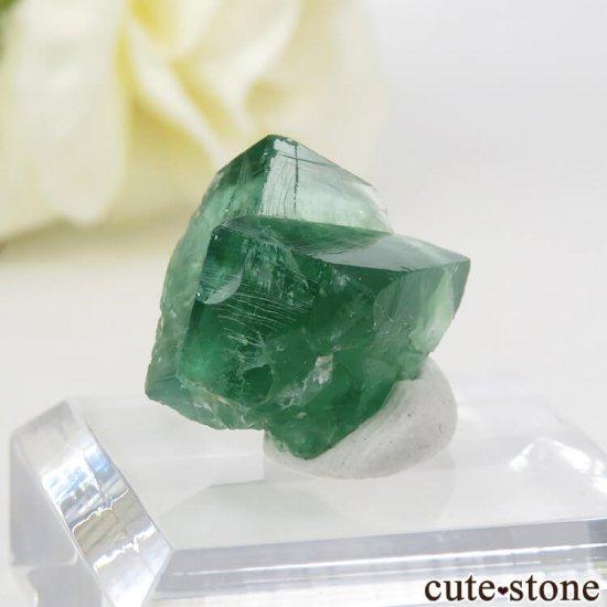 イングランド ロジャリー鉱山産 蛍光フローライトの結晶(原石)4.1gの写真2 cute stone