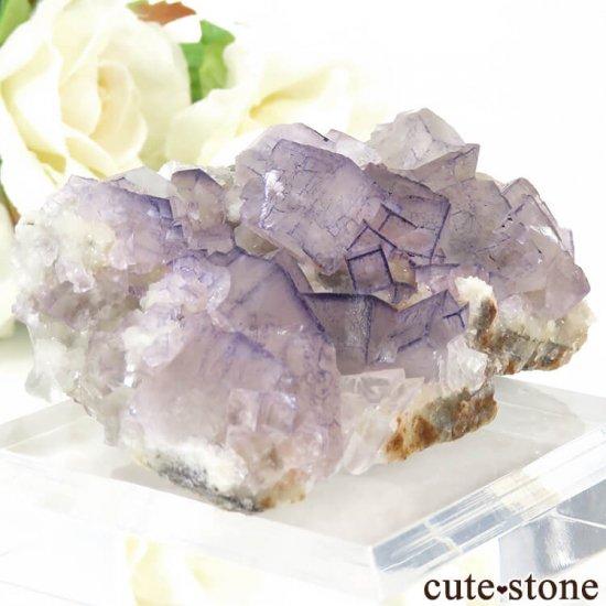 貴州省産 パープルフローライトのクラスター(原石)65gの写真2 cute stone