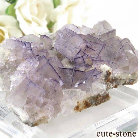 貴州省産 パープルフローライトのクラスター(原石)65gの写真4 cute stone