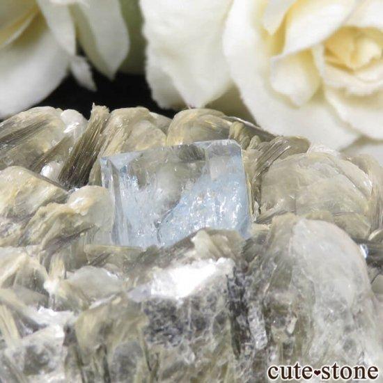 パキスタン産 アクアマリンの母岩付き結晶(原石) 224gの写真3 cute stone