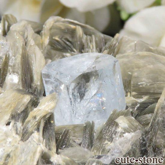 パキスタン産 アクアマリンの母岩付き結晶(原石) 224gの写真4 cute stone