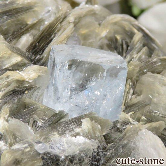 パキスタン産 アクアマリンの母岩付き結晶(原石) 224gの写真6 cute stone