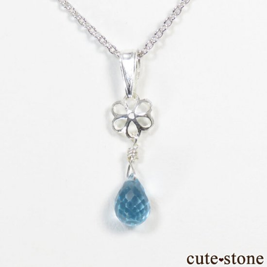 スイスブルートパーズのドロップ・ブリオレットカット型ペンダントトップの写真3 cute stone
