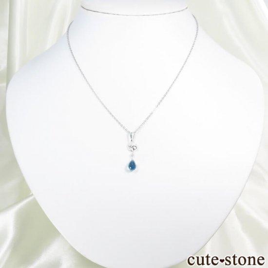 スイスブルートパーズのドロップ・ブリオレットカット型ペンダントトップの写真4 cute stone