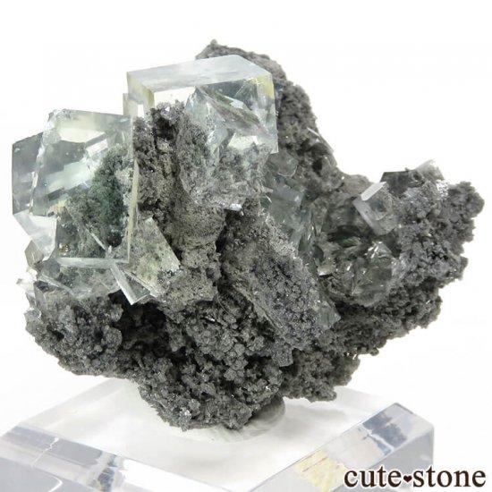 中国 Xianghualing Mine産 グリーンフローライトの母岩付き結晶(原石) 31gの写真0 cute stone