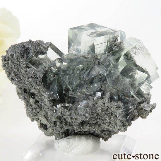 中国 Xianghualing Mine産 グリーンフローライトの母岩付き結晶(原石) 31gの写真2 cute stone