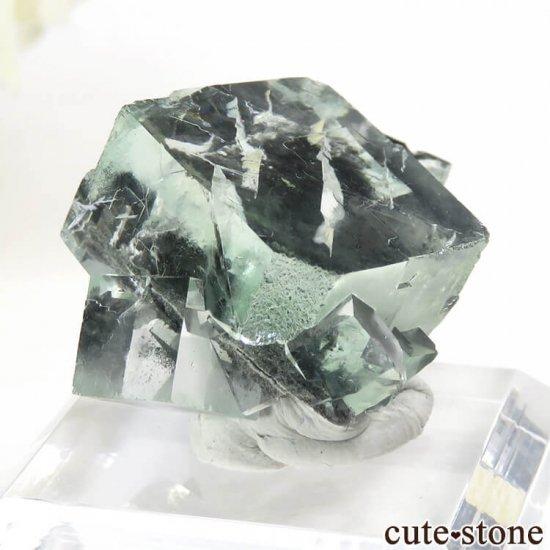 中国 Xianghualing Mine産 グリーンフローライトの結晶 13gの写真1 cute stone
