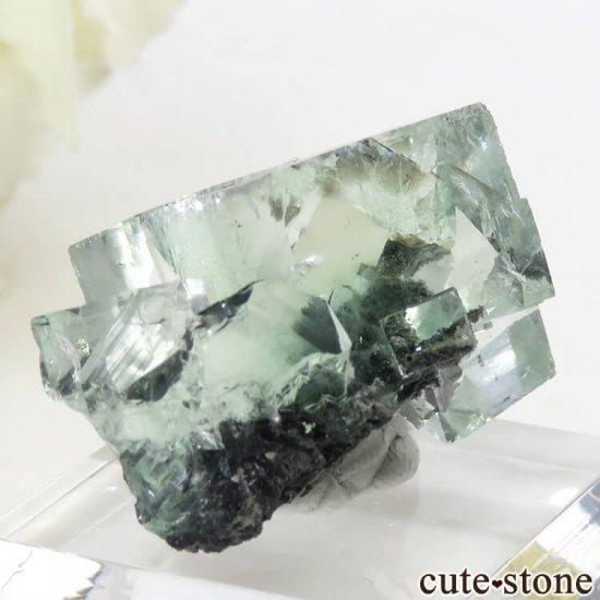 中国 Xianghualing Mine産 グリーンフローライトの結晶 13gの写真2 cute stone