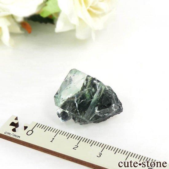 中国 Xianghualing Mine産 グリーンフローライトの結晶 13gの写真4 cute stone