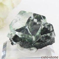 中国 Xianghualing Mine産 グリーンフローライトの結晶 13gの画像