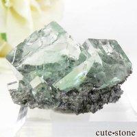 中国 Xianghualing Mine産 グリーンフローライトの結晶 10.8gの画像