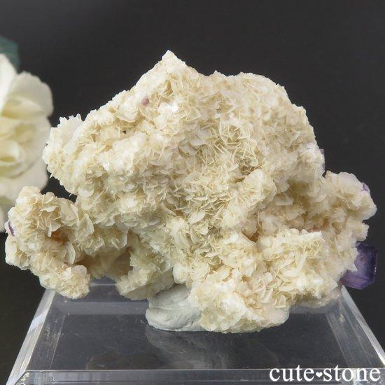 ヤオガンシャン産 パープルフローライト&クォーツ 26gの写真2 cute stone