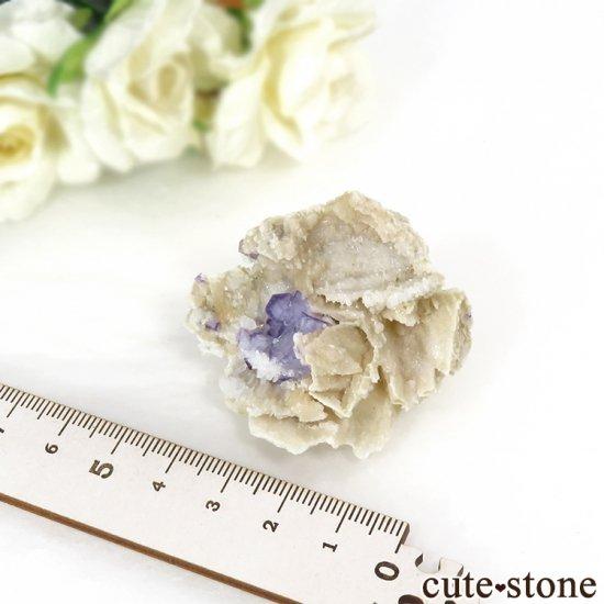 ヤオガンシャン産 パープルフローライト&クォーツ 26gの写真5 cute stone