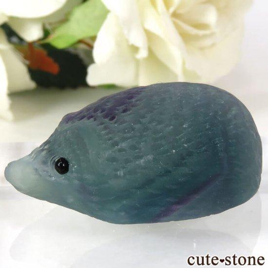 可愛い!フローライトのハリネズミ No.1の写真0 cute stone