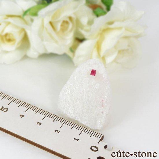 ベトナム産 ピンクスピネルの母岩付き結晶 (原石) 20gの写真3 cute stone