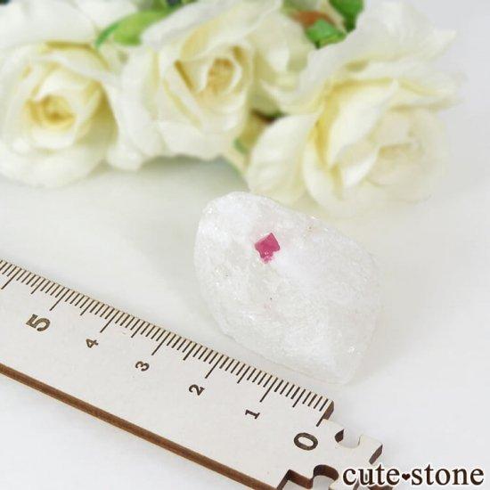 ベトナム産 ピンクスピネルの母岩付き結晶 (原石) 21gの写真3 cute stone