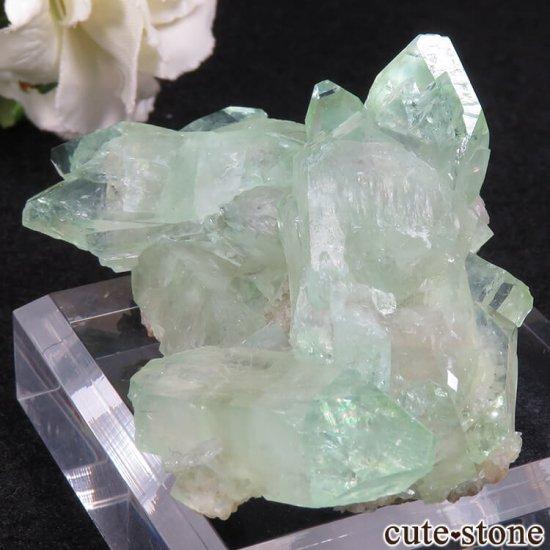 インド ジャルガオン産 グリーンアポフィライトの原石 39.5gの写真0 cute stone