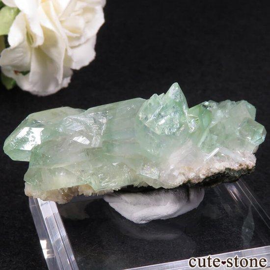 インド ジャルガオン産 グリーンアポフィライトの原石 39.5gの写真1 cute stone