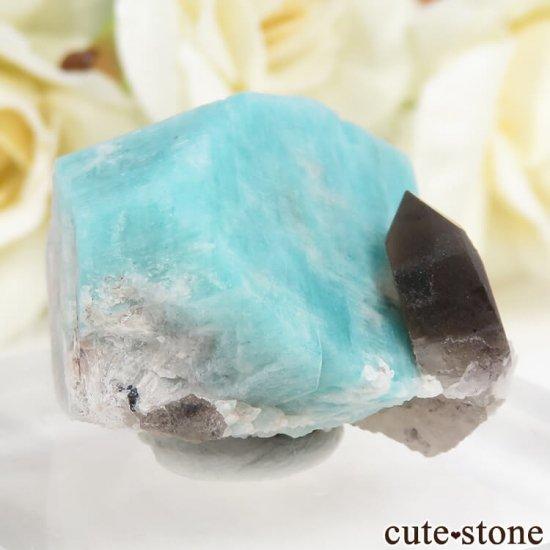 コロラド州 Smoky Hawk claim産のアマゾナイト&スモーキークォーツ 原石 の写真1 cute stone