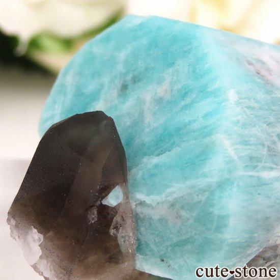 コロラド州 Smoky Hawk claim産のアマゾナイト&スモーキークォーツ 原石 の写真3 cute stone