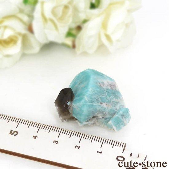 コロラド州 Smoky Hawk claim産のアマゾナイト&スモーキークォーツ 原石 の写真4 cute stone