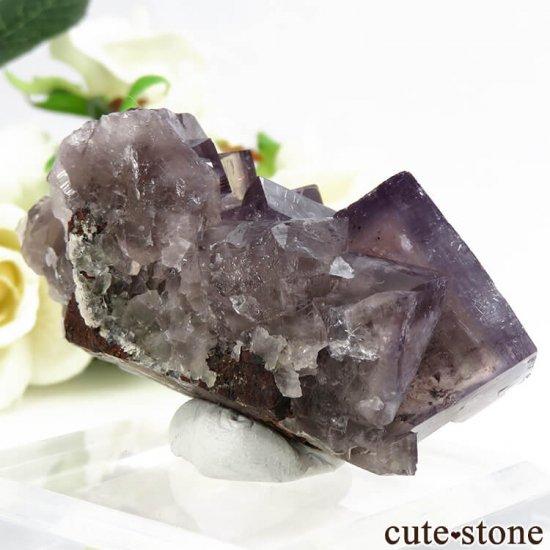 イングランド(イギリス) グリーンローズ産のパープルフローライトの原石 87.5gの写真1 cute stone
