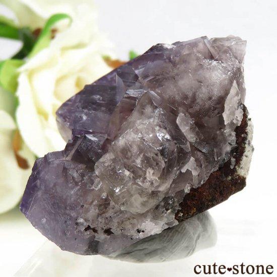 イングランド(イギリス) グリーンローズ産のパープルフローライトの原石 87.5gの写真2 cute stone