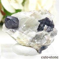 マダガスカル産 ブルースピネルの母岩付き結晶 (原石) 7.6gの画像