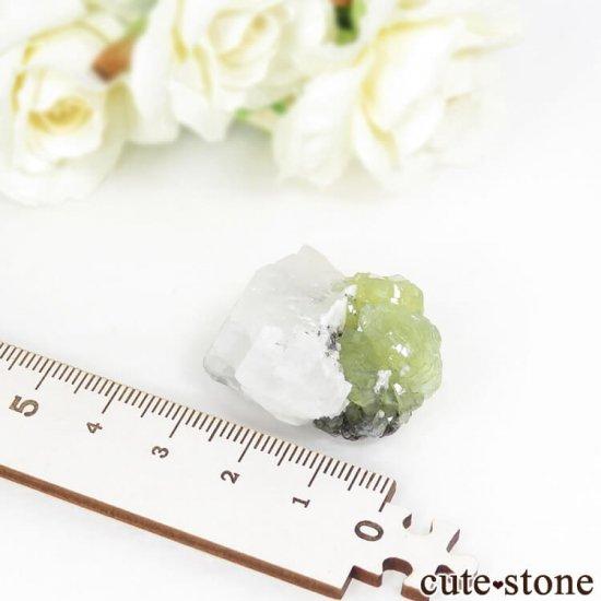 タンザニア メレラニ産 プレナイト&カルサイトの原石 18.8gの写真3 cute stone